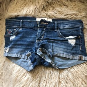 Blue Hollister shorts